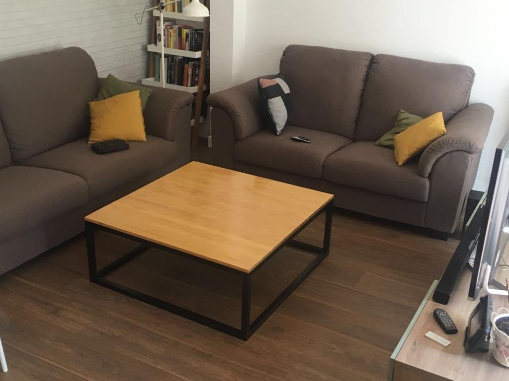 muebles, mesa cuadrada