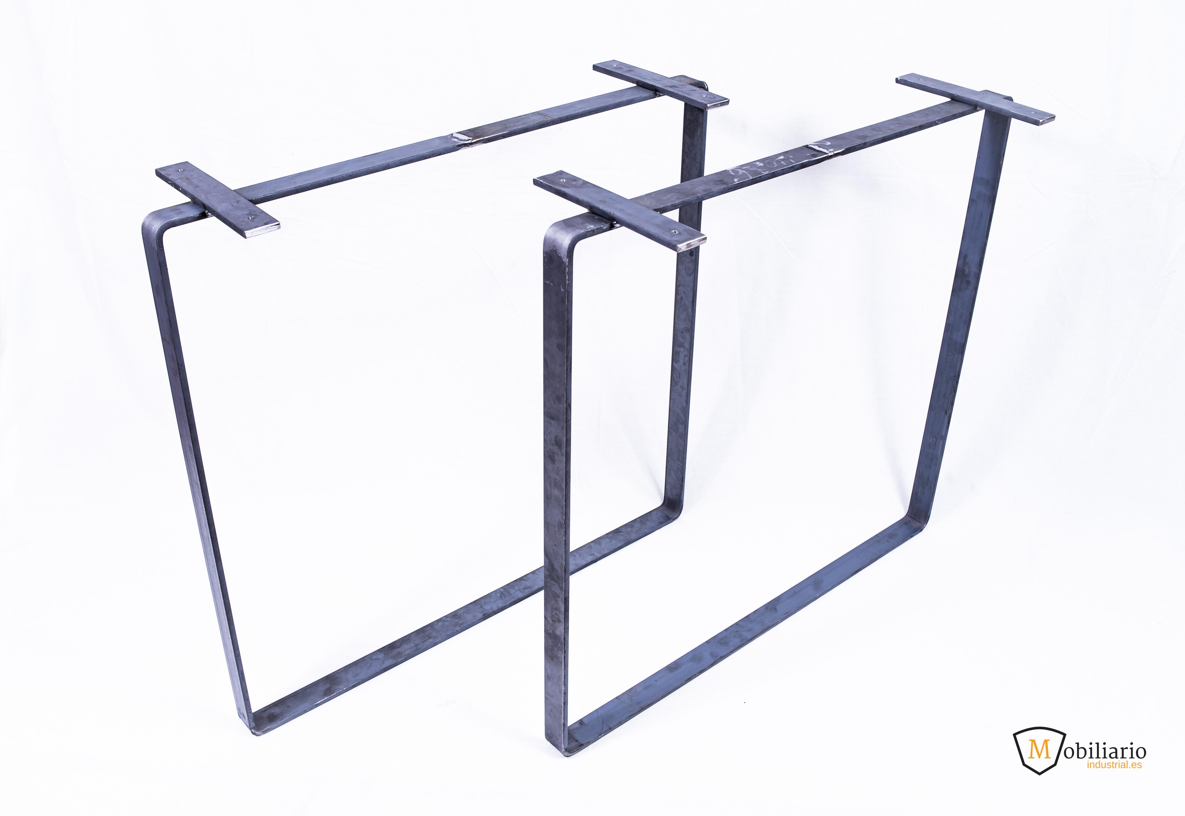 fabricar una mesa con pata de pletina acero macizo