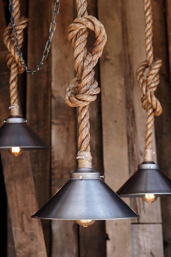lámparas. Iluminación utilizada en la decoración