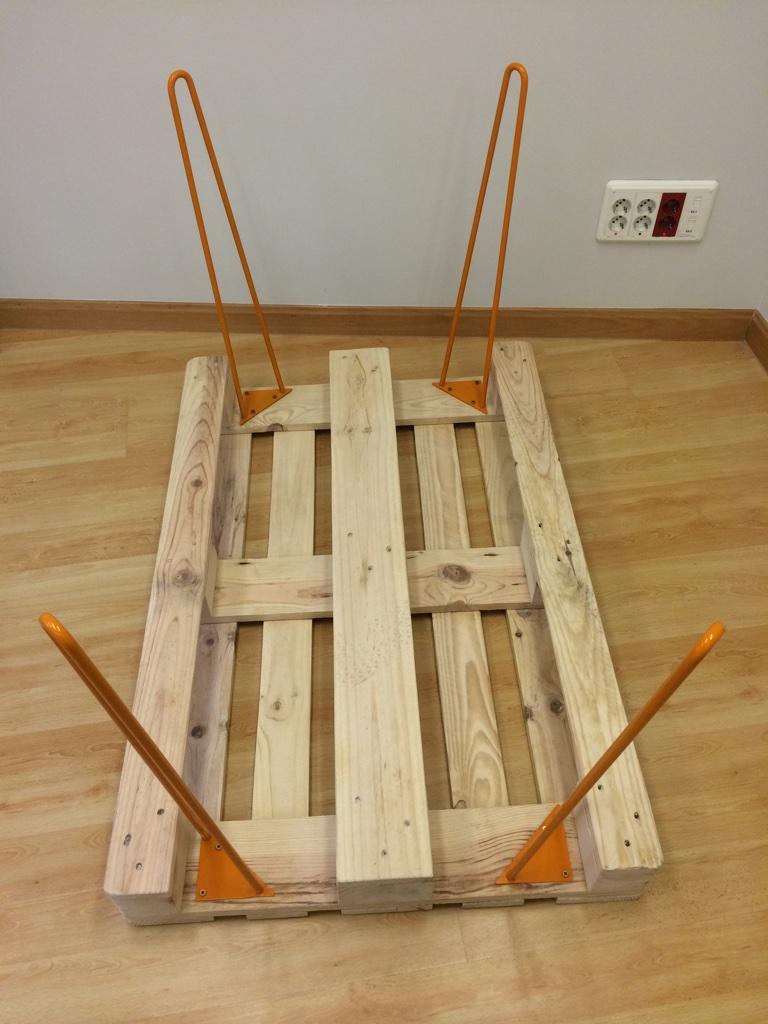 patas metálicas para fabricar una mesa