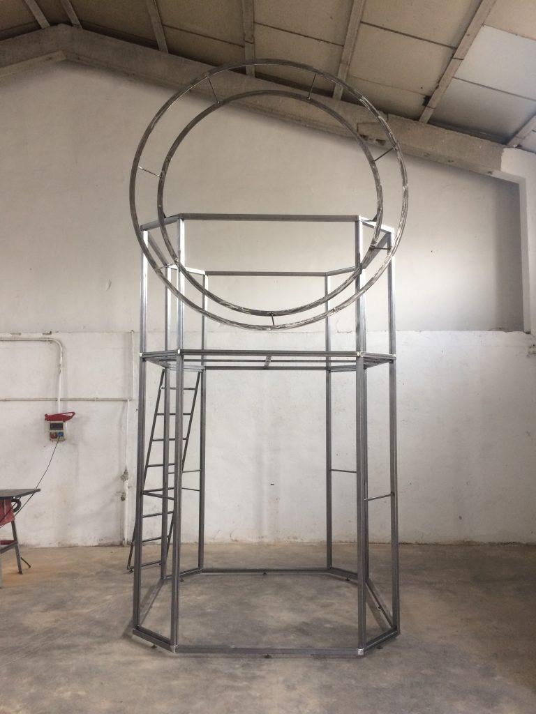 stand de diseño estructura metálica