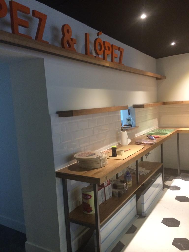 decoración pizzería zona privada a medida