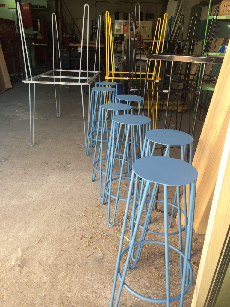 Taburetes Tangú de Mobiliario Industrial azules