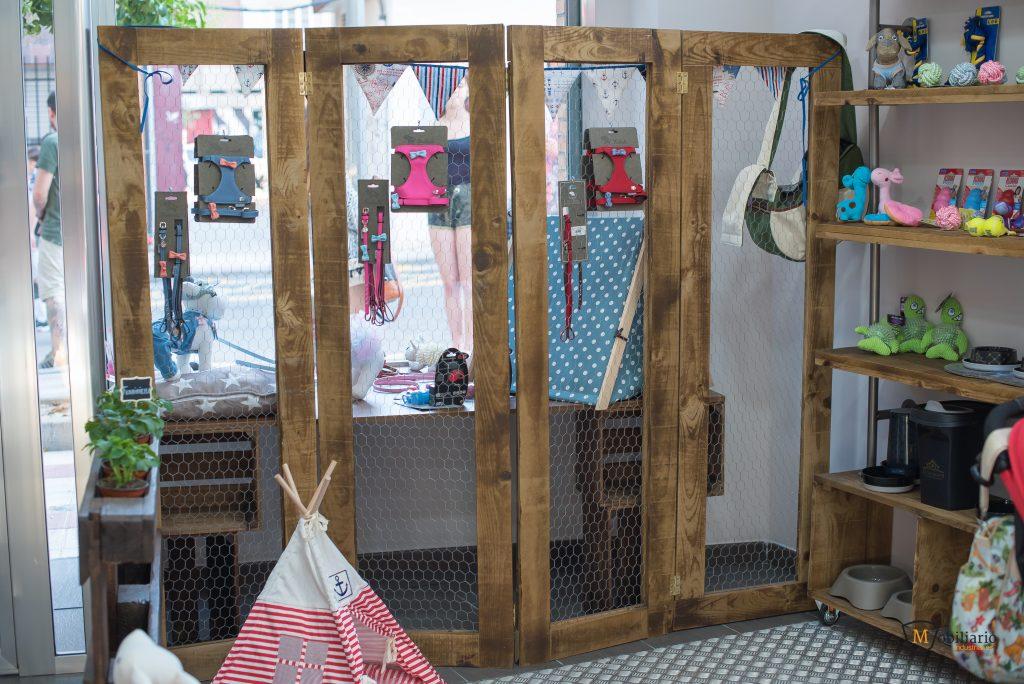 biombo decoración mobiliario peluquería canina