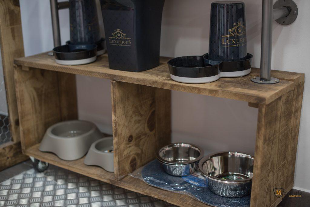 comederos decoración mobiliario peluquería canina