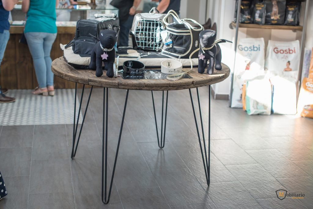 hairpin legs decoración mobiliario peluquería canina