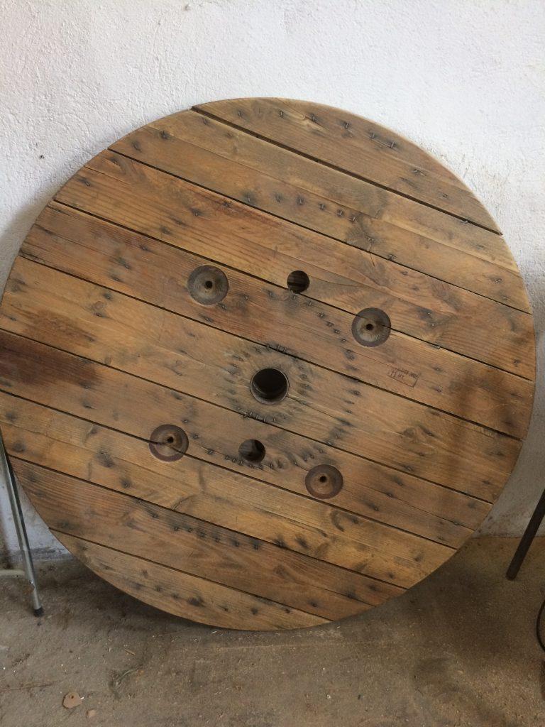 madera circular decoración mobiliario peluquería canina