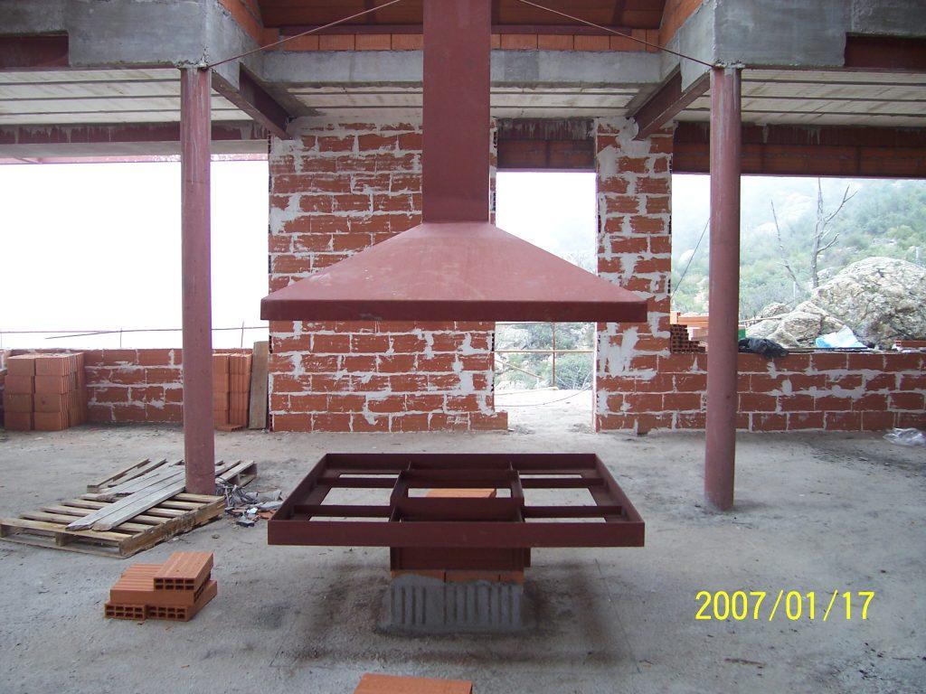 chimenea de la casa por Mobiliario Industrial