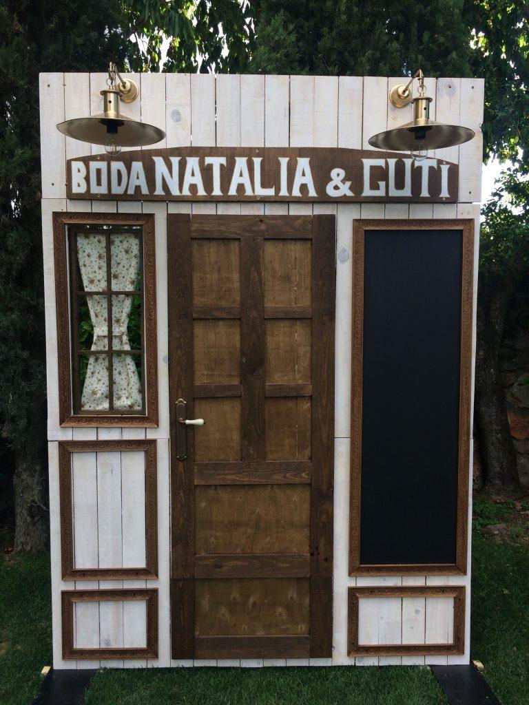 Frontal Mobiliario para eventos decoración y mobiliario para Bodas