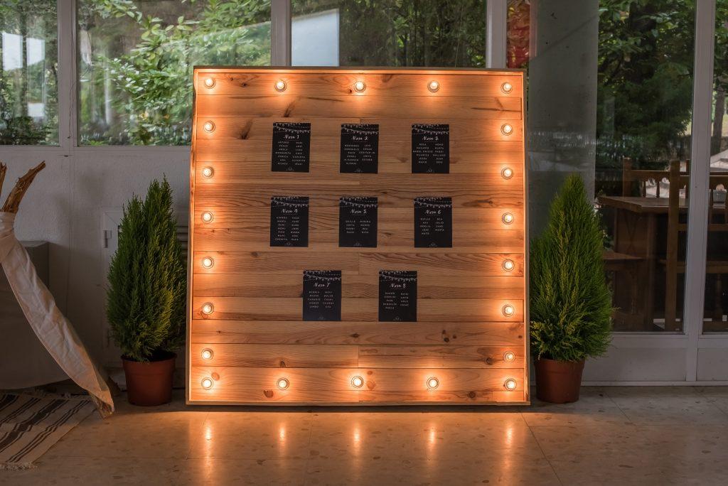 mobiliario para eventos con luces
