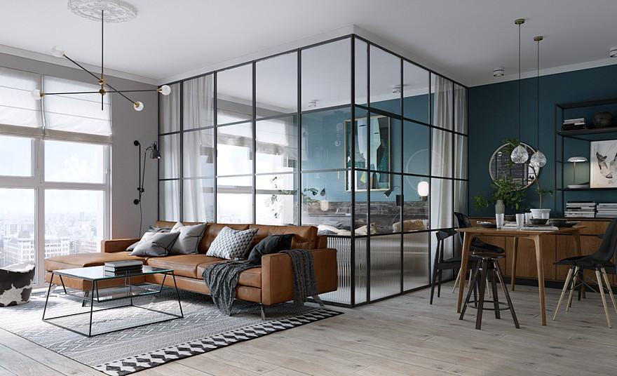 mampara separadores espacios hogar