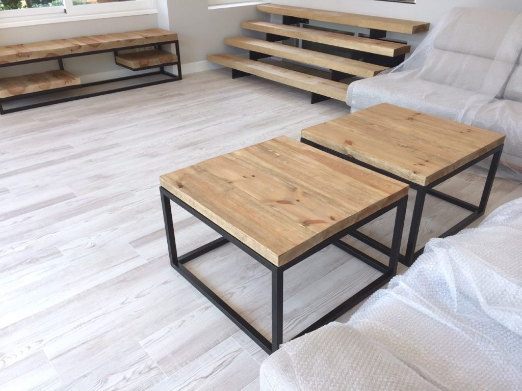 mesas bajas cuadradas