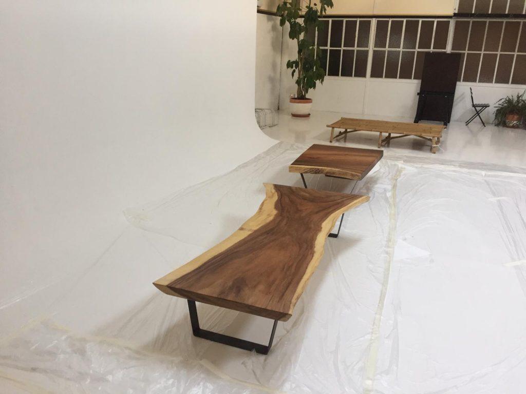 mesas de madera suar